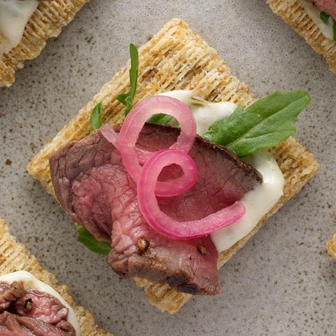 Steak, Aioli & Pickled Onion Toppers Recipe
