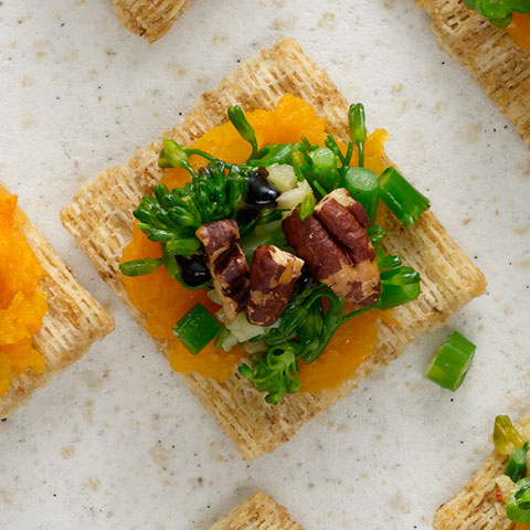 Butternut Squash, Pecan & Spicy Broccolini Toppers Recipe