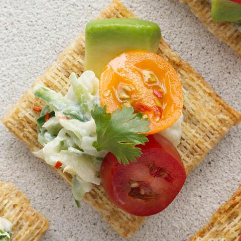 Tahini, Avocado, Veggie & Yogurt Bites  Recipe