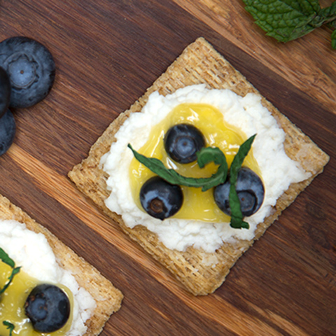 Blueberry-Lemon Curd TRISCUIT Toppers Recipe