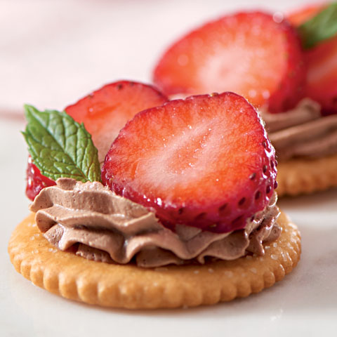 Strawberry-Chocolate Mousse Toppers Recipe