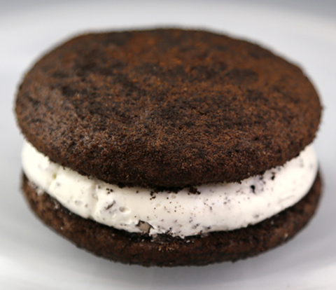 Whoopie Pies made with OREO Cookie Pieces and Base Cake Recipe