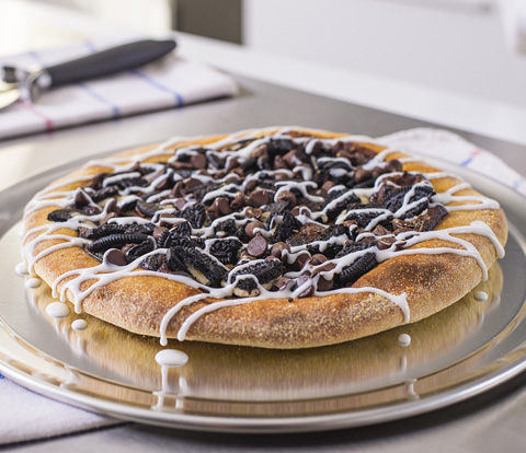 Dessert Pizza made with OREO Cookie Pieces Recipe