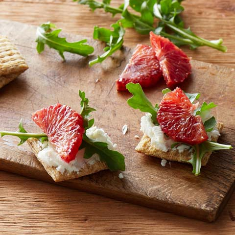 Citrus-Goat Cheese Toppers Recipe