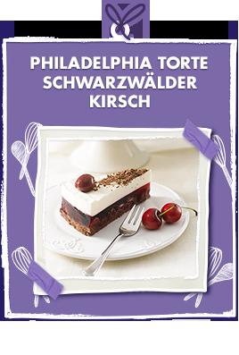 Philadelphia Torte Schwarzwalder Kirsch