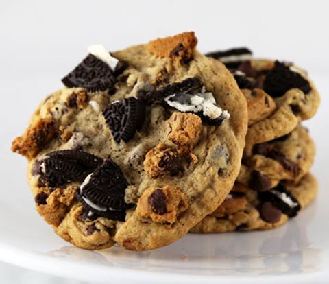 Loaded Monster Cookies made with OREO Cookie Pieces & CHIPS AHOY! Cookies  Recipe