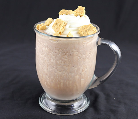 Frozen Hot Chocolate made with NUTTER BUTTER Cookie Pieces Recipe