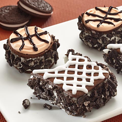OREO Basketballs and Hoops Ice Cream Sandwiches Recipe