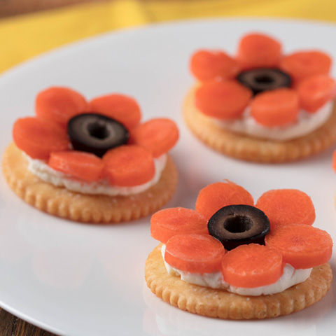 RITZ Cream Cheese and Carrot Flowers Recipe