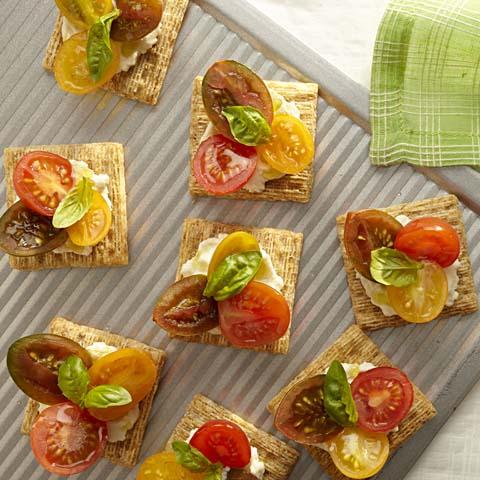 Heirloom Tomato-Ricotta Toppers Recipe