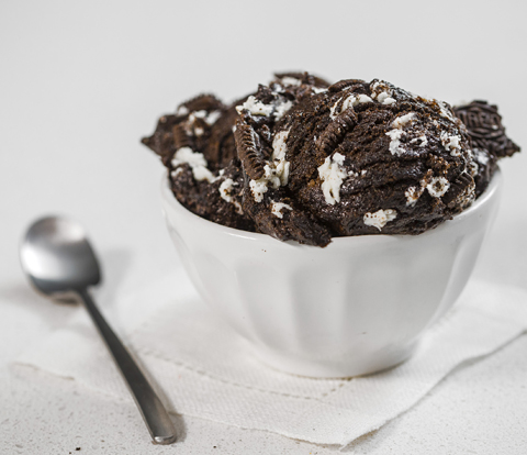 Edible Cookie Dough made with OREO Cookie Pieces Recipe