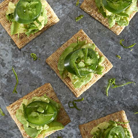 Jalapeño & Avocado TRISCUIT Toppers Recipe