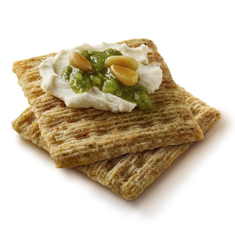 Neufchatel & Pesto Toppers Recipe
