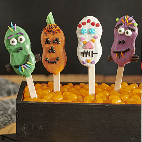 NUTTER BUTTER Costume Party Pops Recipe