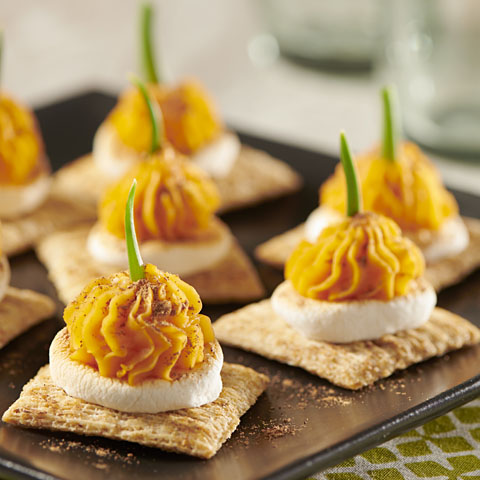 TRISCUIT Toasted Marshmallow-Sweet Potato Toppers Recipe