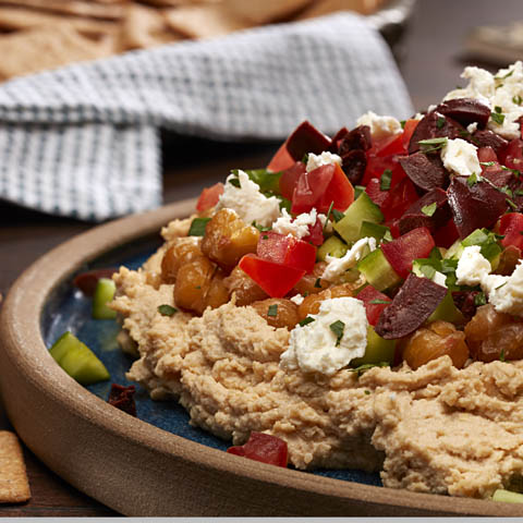 Layered Roasted Chickpea Dip Recipe