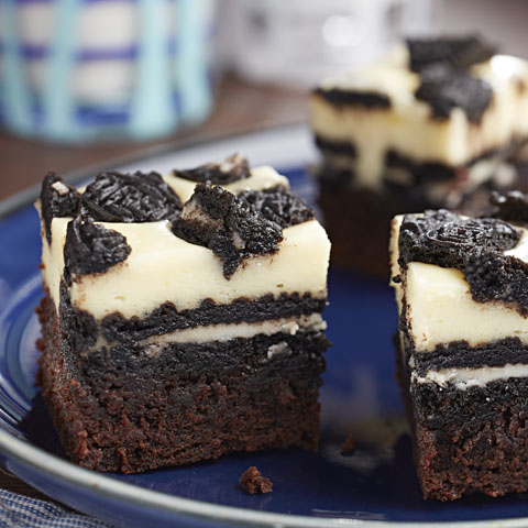 Black & White OREO Brownie Cheesecake Bars Recipe