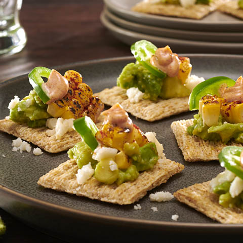 Grilled Mexican Corn & Avocado Toppers Recipe