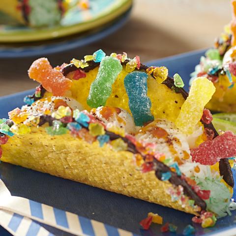 SOUR PATCH KIDS Ice Cream Tacos Recipe