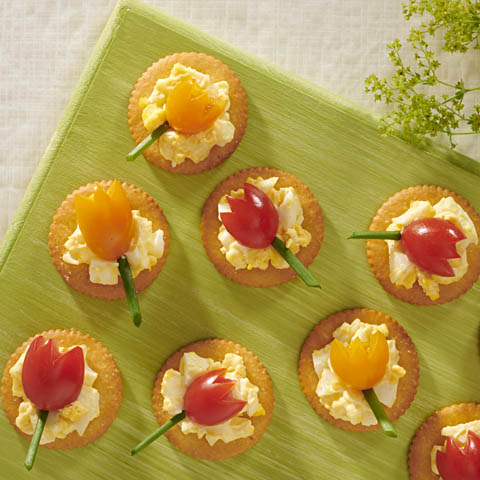 RITZ Egg Salad Tulip Bites Recipe
