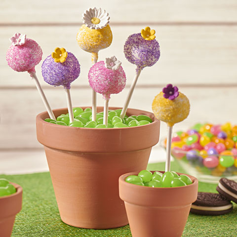 OREO Spring Flower Cookie Ball Pops Recipe