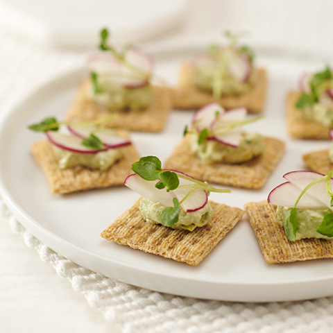 TRISCUIT Avocado Cream & Radish Bites Recipe