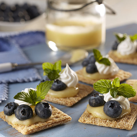 Lemon Curd, Blueberries and Cream TRISCUIT Topper Recipe