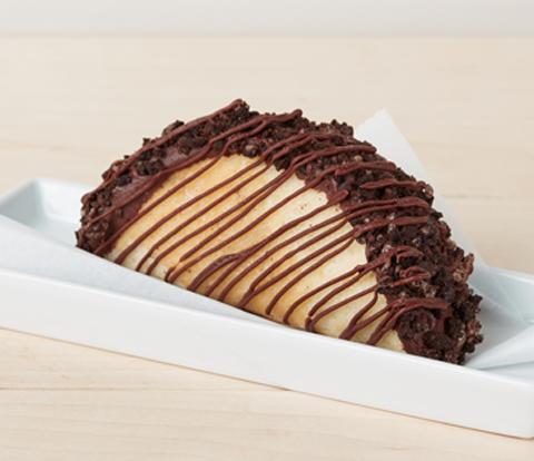 "Cookies and Cream Ice Cream ""Tacos"" with OREO Cookie Pieces Recipe"