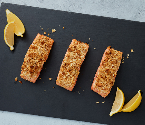 Mustard-Baked Salmon made with RITZ Crackers Recipe