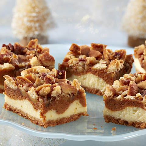 NILLA-Pumpkin Crumble Cheesecake Bars Recipe