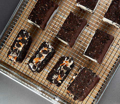 Chewy Brownie Ice Cream Sandwiches made with OREO Recipe