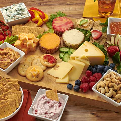 Casual Cheese & Dip Board
