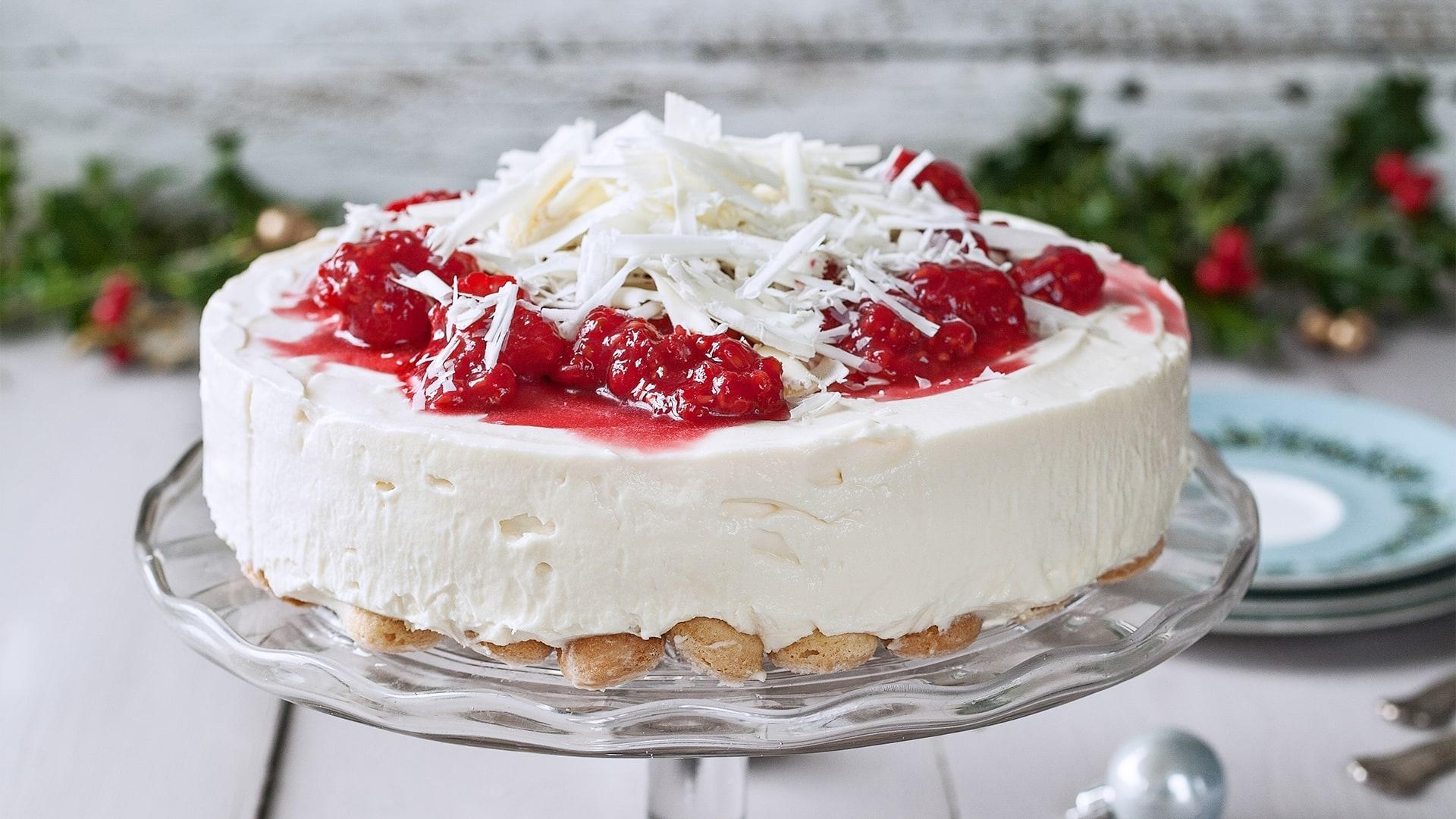 Philadelphia   Recipe   White Choc Raspberry Cheesecake