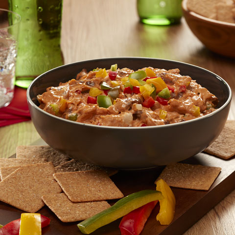 Philly Cheesesteak Dip  Recipe