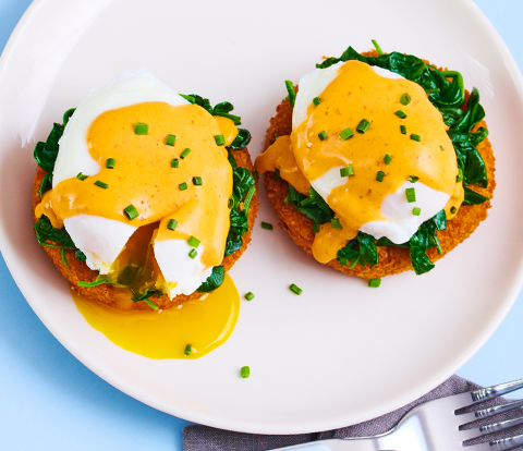 Crispy Sweet Potato Benedict made with RITZ Crackers Recipe