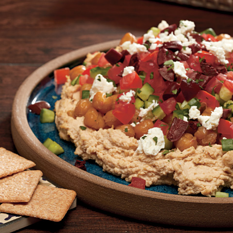 Layered Roasted Chickpea Dip with WHEAT THINS Recipe