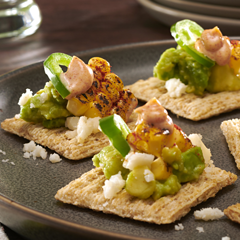 Grilled Mexican Corn & Avocado TRISCUIT Toppers Recipe