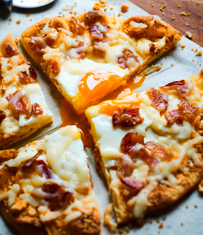 Breakfast Pizza made with RITZ Crackers Recipe