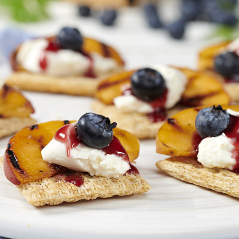Grilled Peach Melba with Burrata Recipe