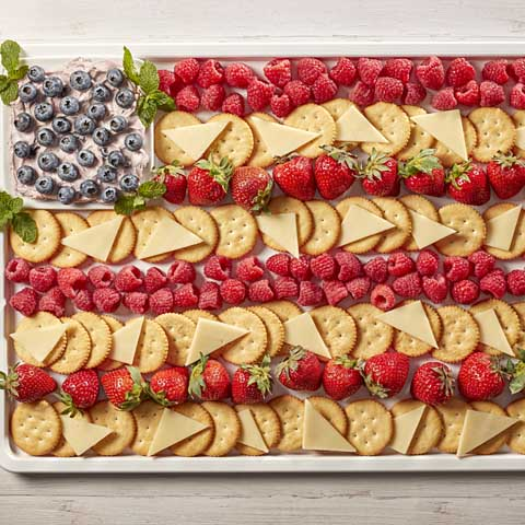 Wave-Your-Flag RITZ Berry & Cheddar Board Recipe