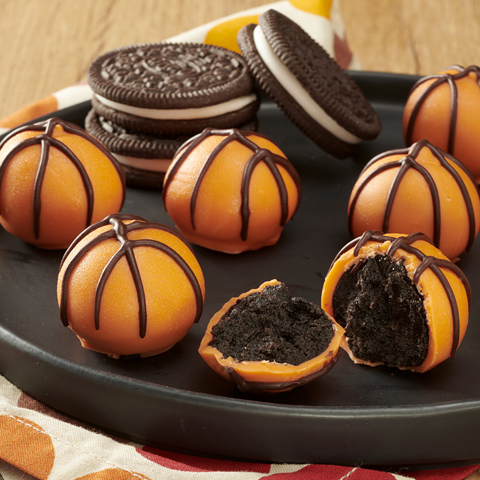 OREO Cookie Balls Basketballs Recipe