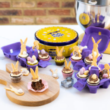 mini eggs easter brownies