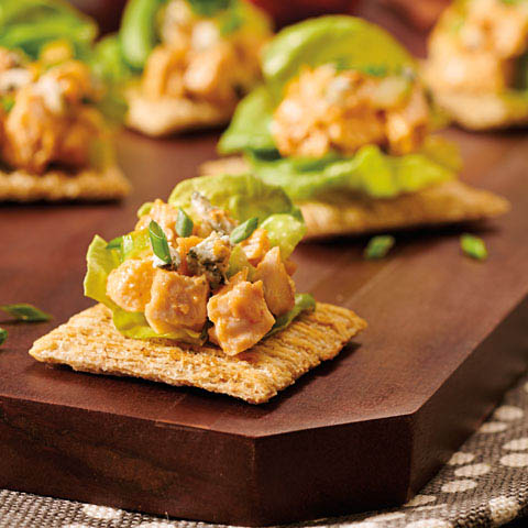 "TRISCUIT Spicy Chicken ""Lettuce Wrap"" Toppers Recipe"