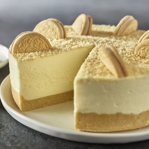 Golden OREO White Chocolate No-Bake Cheesecake Recipe