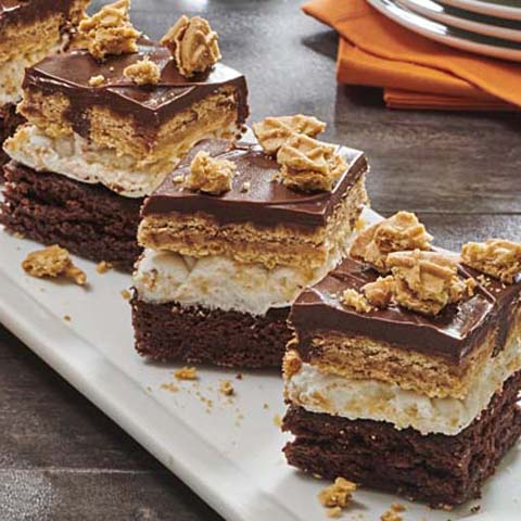 NUTTER BUTTER Mississippi Mud Pie Squares Recipe