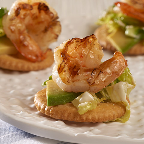 Avocado & Grilled Shrimp Toppers Recipe