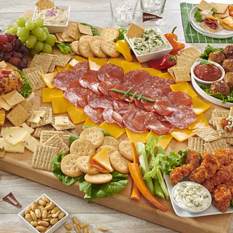Big Game Cheese, Meat and Dip Board Recipe