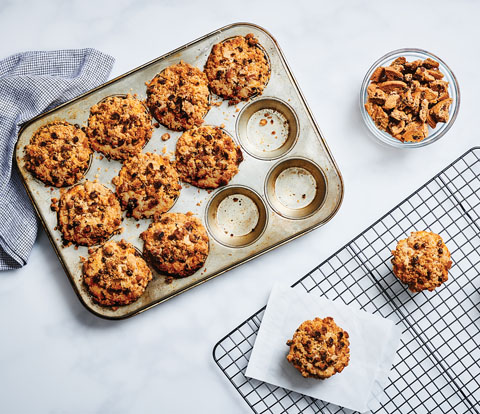 Coffee Cake Muffins made with CHIPS AHOY! Cookie Pieces Recipe