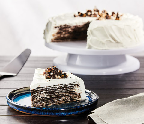 Crepe Cake made with OREO Base Cake Recipe