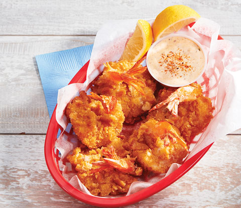 Buttermilk Battered, Country-Fried Butterfly Shrimp made with RITZ Crackers Recipe